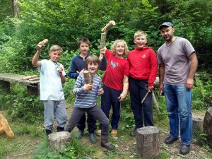Half Day Course for Youngsters at Buzzard Chris Bushcraft